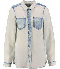 calvin klein stevige soepele lyocell denim blouse