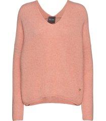 thora v-neck knit gebreide trui roze mos mosh