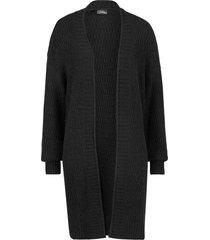 cardigan lungo in maglia operata (nero) - bpc bonprix collection