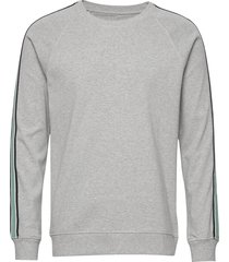 cotton rib melange stelt tape sweat-shirt tröja grå mads nørgaard