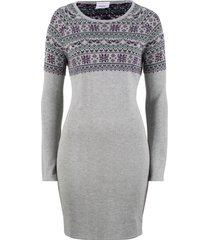 abito in maglia jacquard (grigio) - bpc bonprix collection