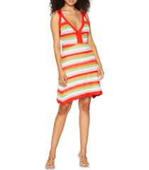 bcbgeneration striped crocheted dress