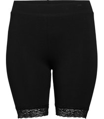cartime shorts with lace noos shorts flowy shorts/casual shorts svart only carmakoma
