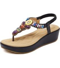 sandalias de mujer, zapatos de playa, con cuentas, zapatos de mujer de gran tamaño