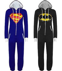 adult batman superman onesie kigurumi pajamas sleepwear unisex onesies costume