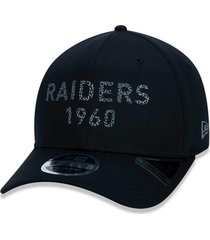 boné new era 950 stretch snap oakland raiders preto