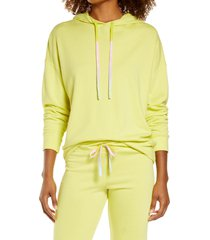 women's sundry solid hoodie, size 3 - yellow