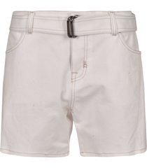 tom ford belted denim shorts