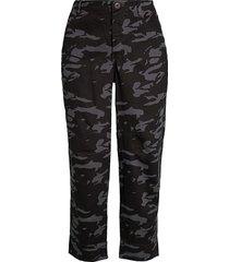 monrow women's high-rise camo military pants - vintage black - size 25 (2)