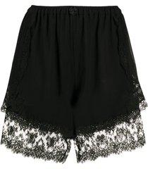 dolce & gabbana lace-trim shorts - black