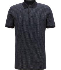 boss men's slim fit micro-pattern cotton polo