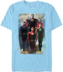 fifth sun dc men's justice league legends short sleeve t-shirt