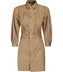dsquared2 beige cotton dress