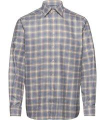 blue & yellow micro weave twill shirt skjorta casual multi/mönstrad eton