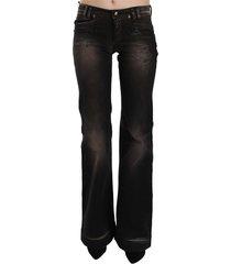 low waist boot cut denim jeans