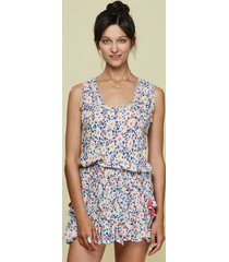 poupette st barth mini soledad dress blue fruity