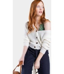 isabelle button cardigan - white