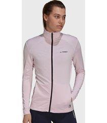 chaqueta outdoor adidas outdoor w mt full z fle rosa - calce regular