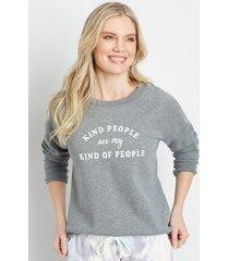 maurices womens gray kind people crew neck sweatshirt