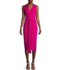 jason wu women's fluid evening front twist dress - pink - size 8