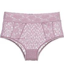 calcinha cintura alta renda sweet lace loungerie - roxo