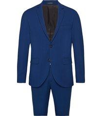 plain mens suit pak blauw lindbergh