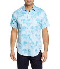 men's robert graham pool party short sleeve button-up shirt