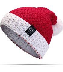 inverno donne natale maglia babbo natale cappello morbido slouchy beanie per il regalo di natale