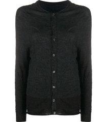 y's lightweight wool cardigan - grey