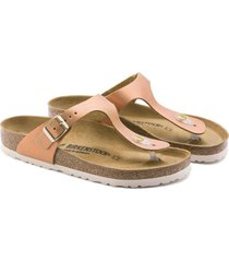 sandalia gizeh washed metallic sea copper birkenstock
