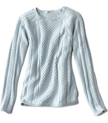cotton cable-stitch sweater