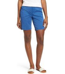women's jag jeans gracie stretch cotton shorts, size 6 - blue
