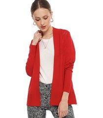 cardigan ash liso rojo - calce regular