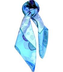 lenço smm acessorios flora geo azul