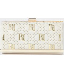 river island womens cream ri studded cliptop purse