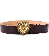 dolce & gabbana devotion buckled belt - purple