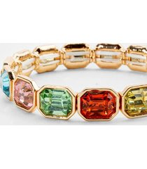 ayesha emerald cut stretch bracelet in pastel - multi