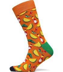 taco sock underwear socks regular socks orange happy socks