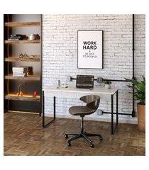 mesa de escritório kuadra 2 gv bege 135 cm