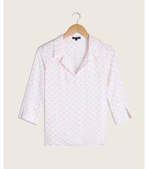 blusa camisera cuello abierto
