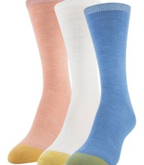 gold toe women's 3-pk. slub crew socks