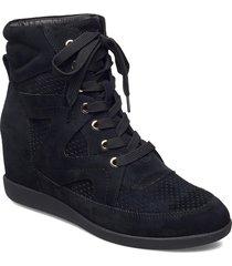 stb-emmy lace s höga sneakers svart shoe the bear