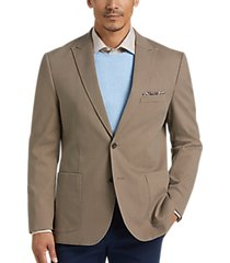 joseph abboud khaki twill modern fit casual coat