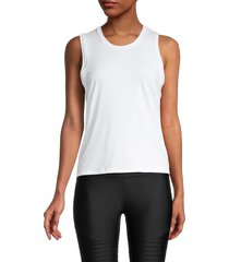 x by gottex women's back-tie tank top - white - size l