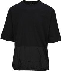 neil barrett nylon panel t-shirt