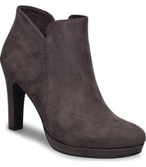 woms boots shoes boots ankle boots ankle boots with heel grå tamaris