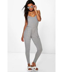 basic cami jumpsuit, grey marl