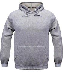 jaqueta de moletom fechada com bolso canguru - cinza/grafite - masculino - algodã£o - dafiti