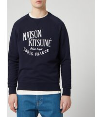 maison kitsune men's palais royal sweatshirt - navy - xl