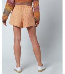 holzweiler women's musan shorts - light orange - l